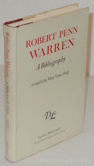 Image for Robert Penn Warren: A Bibliography
