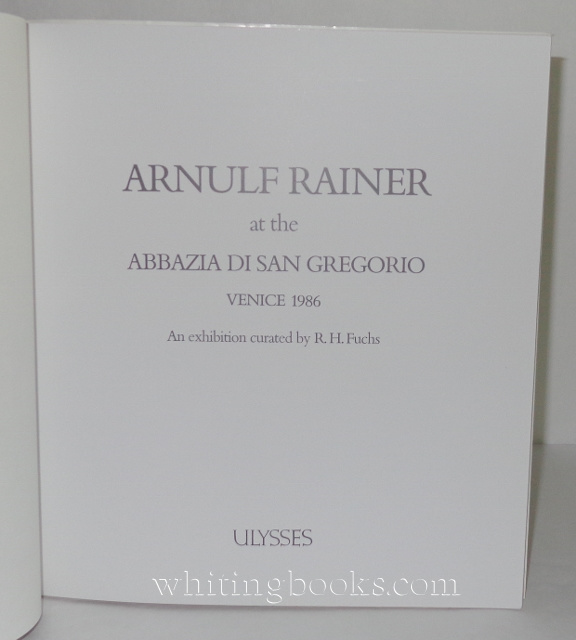 Image for Arnulf Rainer at the Abbazia Di San Gregorio, Venice 1986