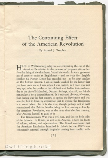Image for The Continuing Effect of the American Revolution