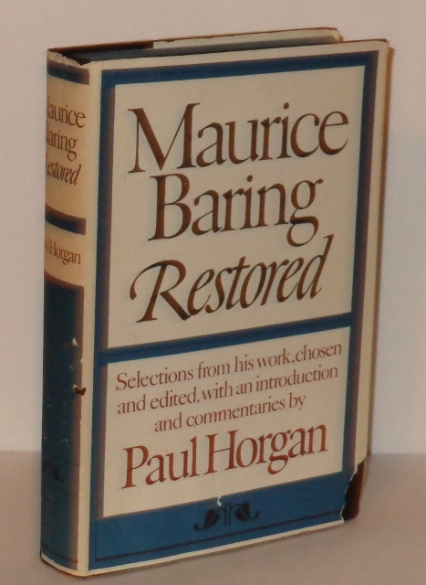 Image for Maurice Baring Restored : Selections from His Work, Chosen and Edited, with an Introduction and Commentaries By Paul Horgan