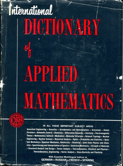 Image for International Dictionary of Applied Mathematics