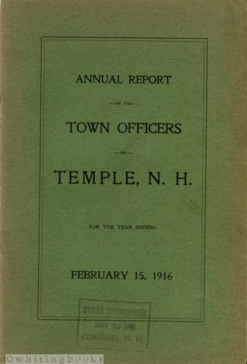 Image for Annual Report of the Town Officers of Temple, N.H. for the Year Ending February 15, 1916