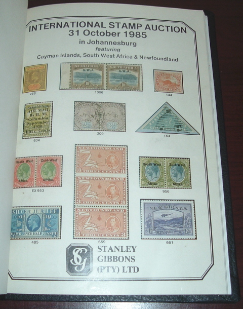 Image for Stanley Gibbons (PTY) Limited International Stamp Auction 31 October 1985 in Johannesburg, Featuring Cayman Islands, South West Africa & Newfoundland