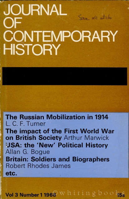 Image for Journal of Contemporary History, Volume 3, Number 1, 1968