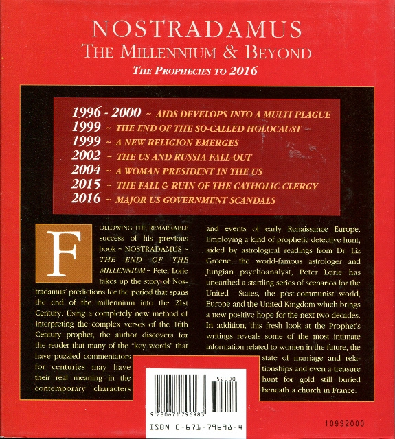 Image for Nostradamus: The Millenium & Beyond The Prophecies to 2016