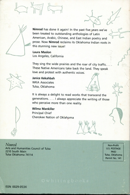Image for Nimrod (Volume 32, Number 2, Spring/Summer 1989): Oklahoma Indian Markings, Poetry and Prose