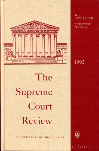Image for The Supreme Court Review 1992
