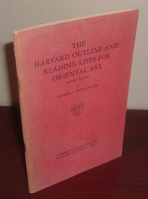 Image for The Harvard Outline and Reading Lists for Oriental Art
