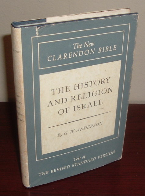 Image for The New Clarendon Bible, Old Testament, Volume One: The History and Religion of Israel