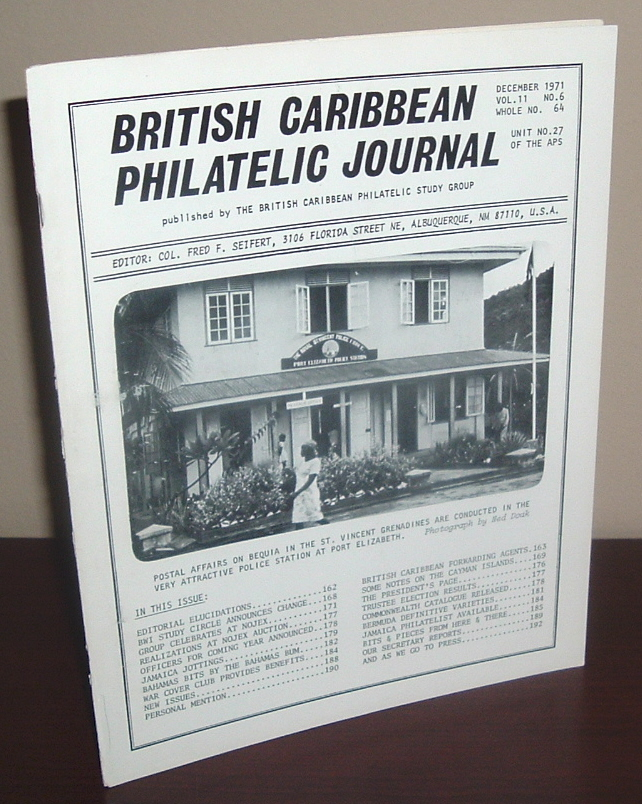 Image for British Caribbean Philatelic Journal, December 1971, Vol. 11 No. 6