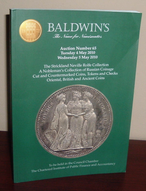 Image for Baldwin's Auction Number 65, May 4 to 5, 2010, [Coin Auction Catalogue]