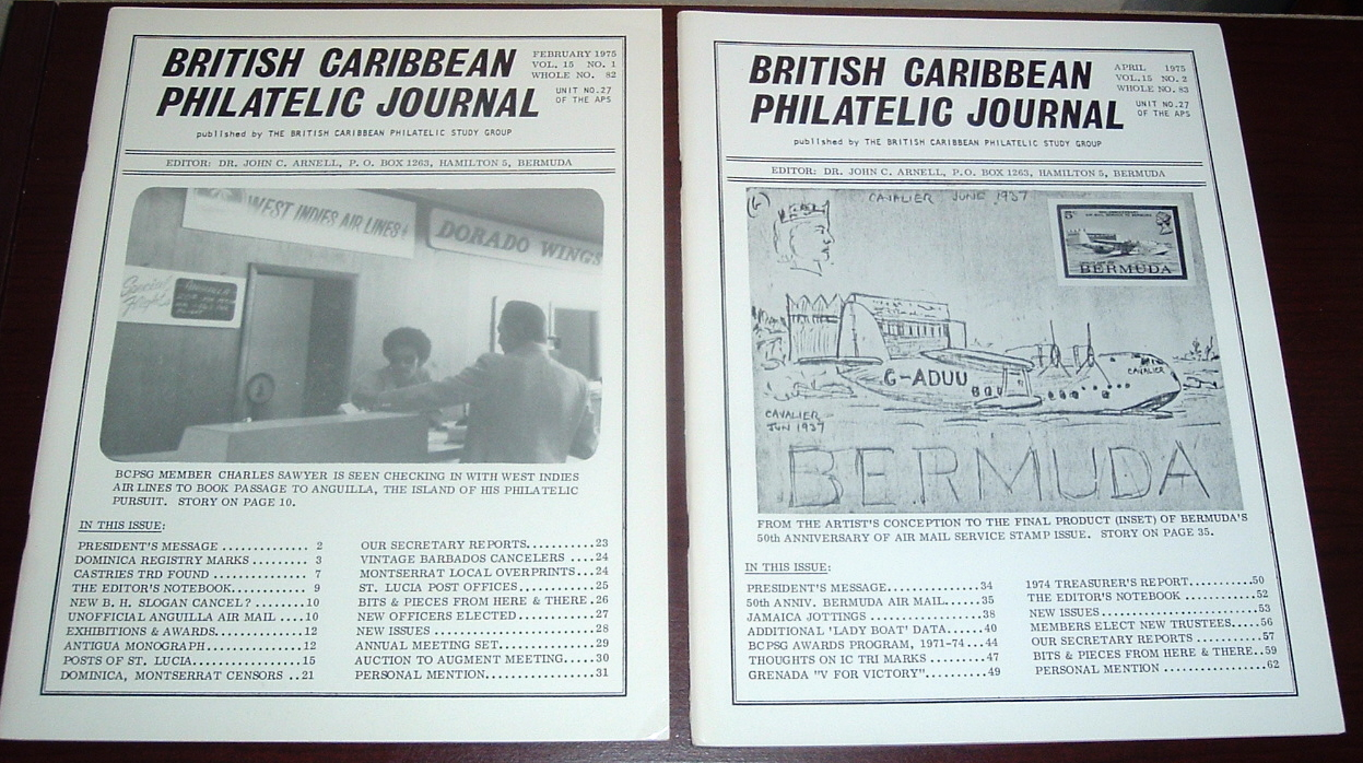 Image for British Caribbean Philatelic Journal, 1975 Complete, Vol. 15, Nos. 1 to 6