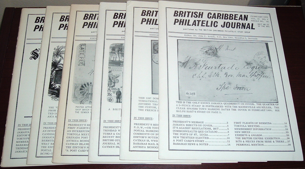 Image for British Caribbean Philatelic Journal, 1976 Complete, Vol. 16, Nos. 1 to 6