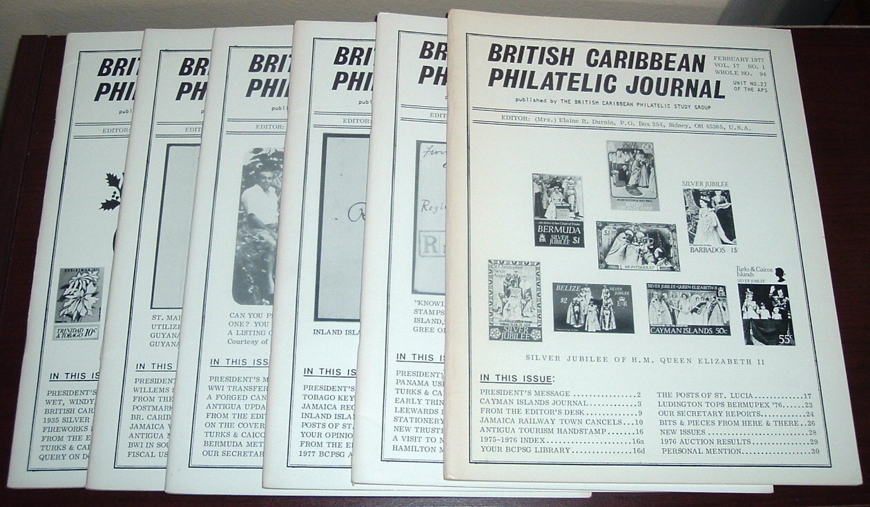 Image for British Caribbean Philatelic Journal, 1977 Complete, Vol. 17, Nos. 1 to 6
