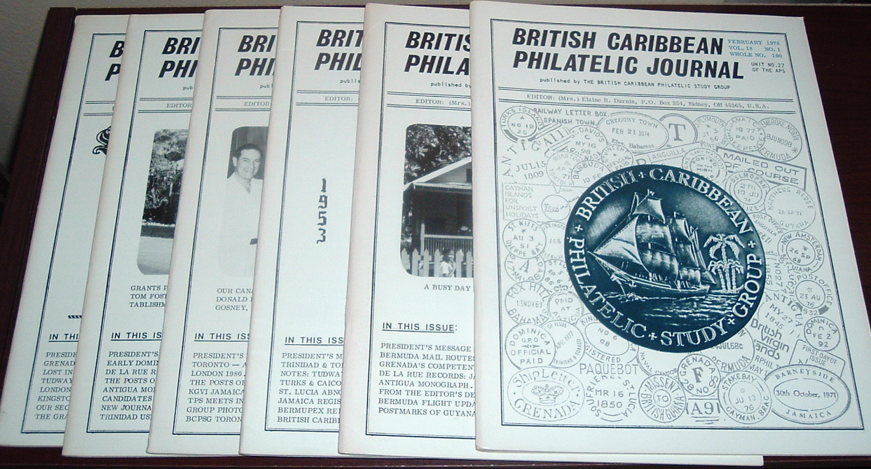Image for British Caribbean Philatelic Journal, 1978 Complete, Vol. 18, Nos. 1 to 6