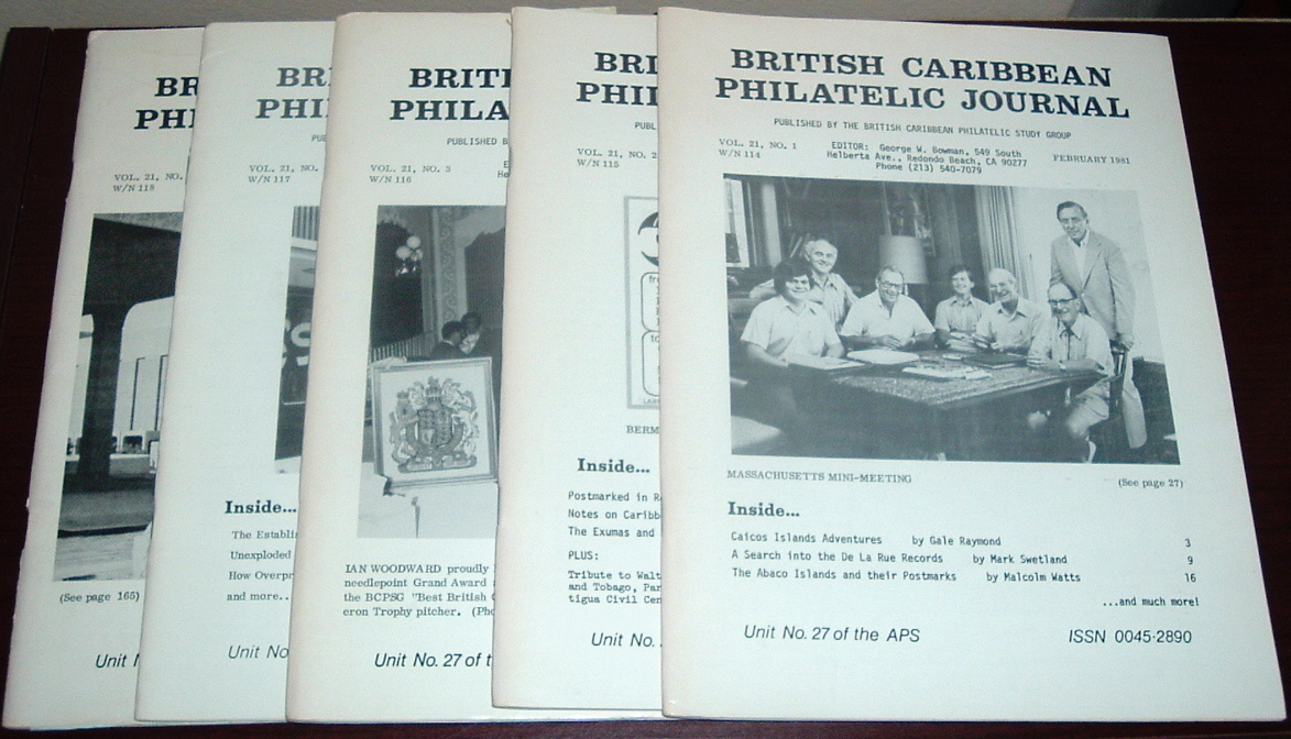 Image for British Caribbean Philatelic Journal, 1981 Complete, Vol. 21, Nos. 1 to 5