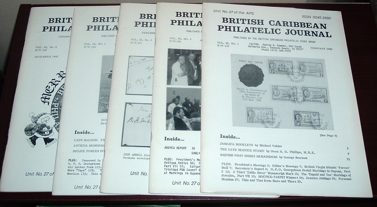 Image for British Caribbean Philatelic Journal, 1982 Complete, Vol. 22, Nos. 1 to 5