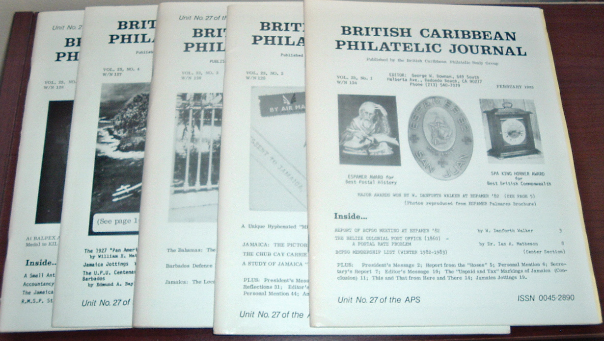 Image for British Caribbean Philatelic Journal, 1983 Complete, Vol. 23, Nos. 1 to 5