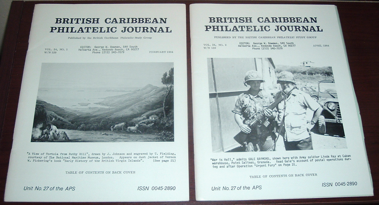 Image for British Caribbean Philatelic Journal, 1984 Complete, Vol. 24, Nos. 1 to 5