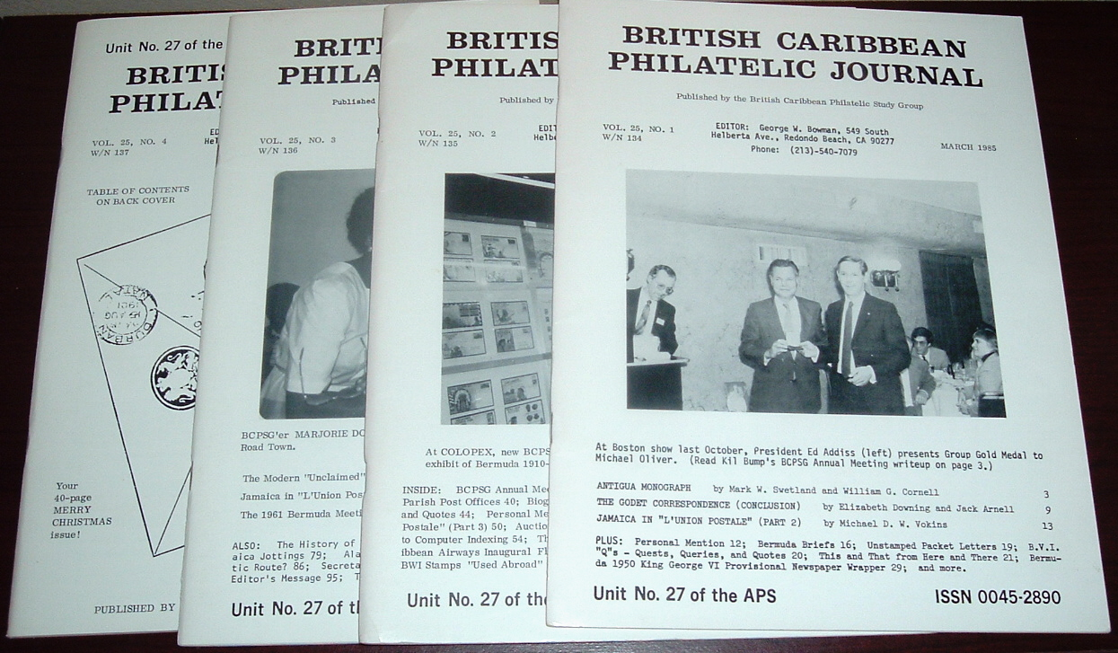 Image for British Caribbean Philatelic Journal, 1985 Complete, Vol. 25, Nos. 1 to 4