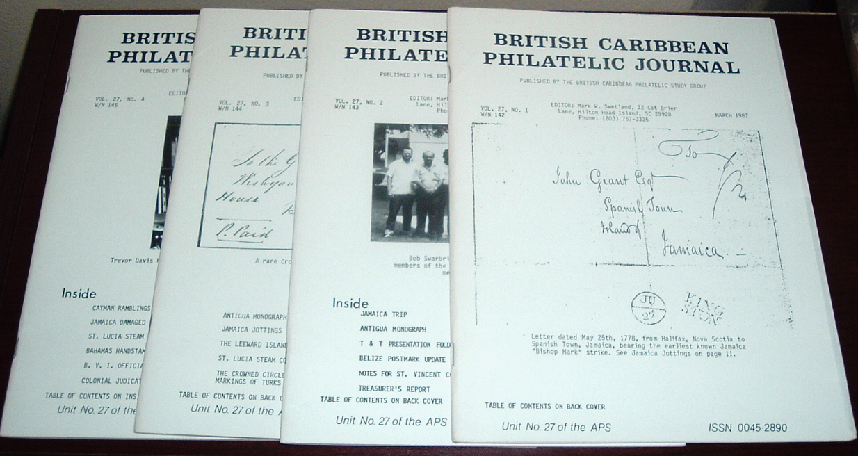 Image for British Caribbean Philatelic Journal, 1987 Complete, Vol. 27, Nos. 1 to 4