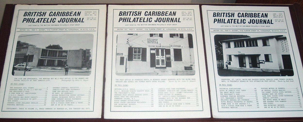 Image for British Caribbean Philatelic Journal, 1972 Complete, Vol. 12 Nos. 1 to 6