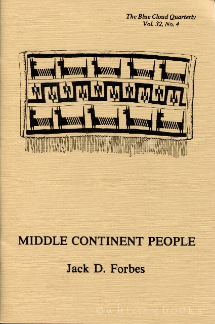 Image for Middle Continent People [The Blue Cloud Quarterly Vol. 32, No. 4]