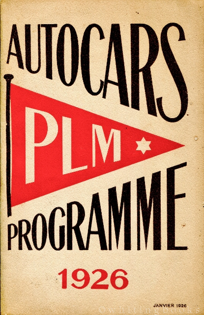 Image for Autocars Programme PLM 1926 (Paris Lyon Mediterranean) with Related Ephemera