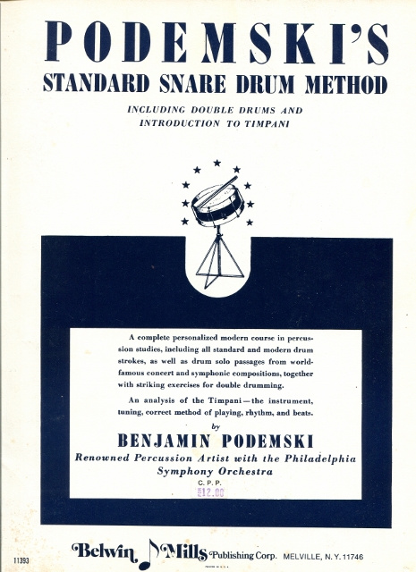 Image for Podemski's Standard Snare Drum Method Including Double Drums and Introduction to Timpani