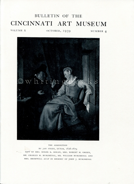 Image for Bulletin of the Cincinnati Art Museum, Volume X, Number 4,  October 1939
