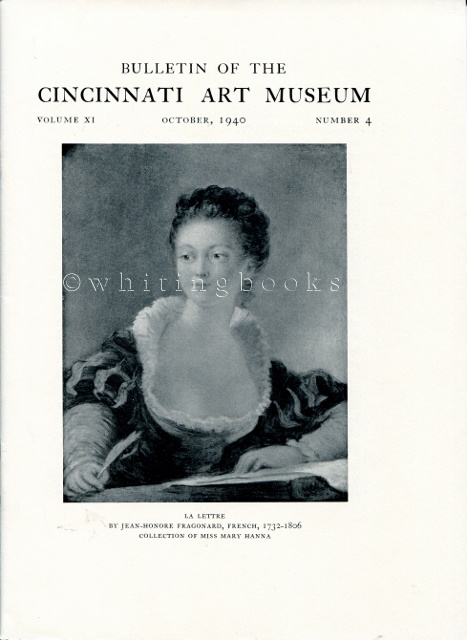 Image for Bulletin of the Cincinnati Art Museum, Volume XI, Number 4,  October 1940
