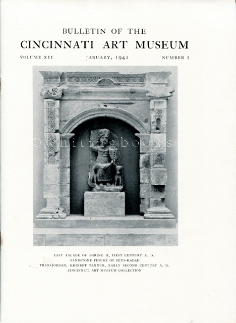 Image for Bulletin of the Cincinnati Art Museum, Volume XII, Number 1,  January 1941