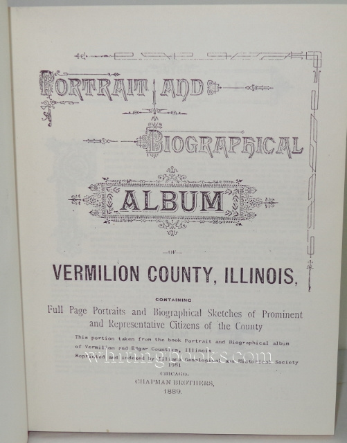 Image for Portrait and Biographical Album of Vermilion County, Illinois Indexed