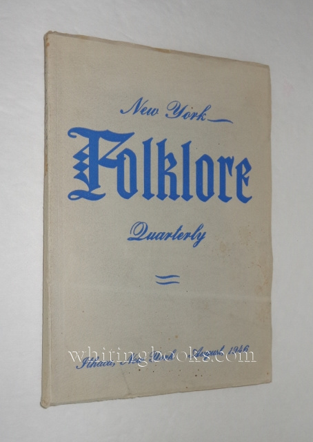 Image for New York Folklore Quarterly; Volume II, Number 3; August, 1946