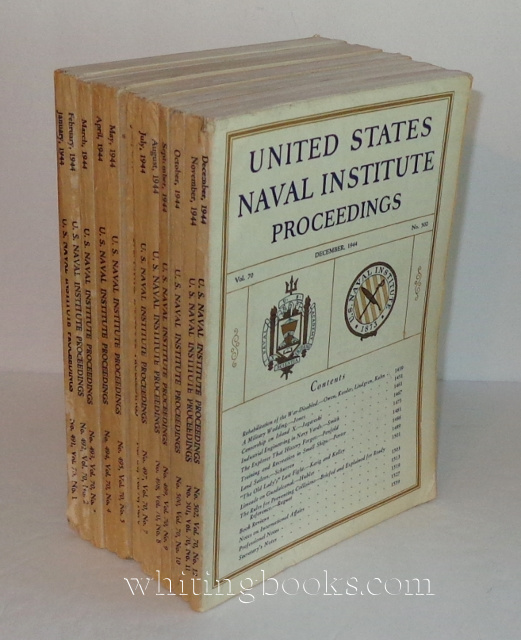 Image for United States Naval Institute Proceedings 1944, Volume 70, Complete