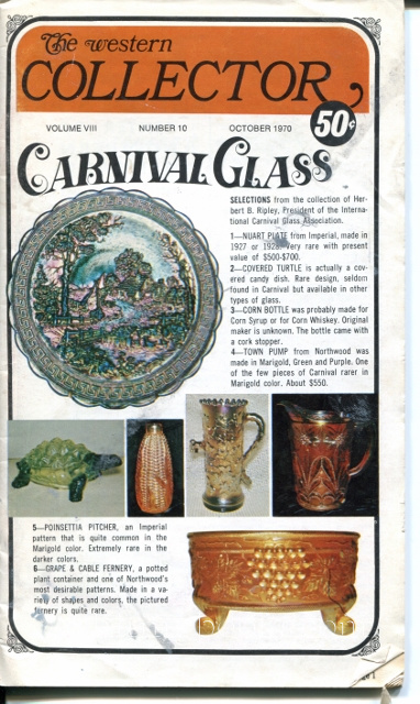 Image for The Western Collector Volume VIII Number 10, October 1970 (Carnival Glass)