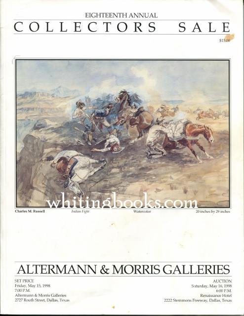 Image for Altermann & Morris Galleries Eighteenth Annual Collectors Sale May 16, 1998, Dallas