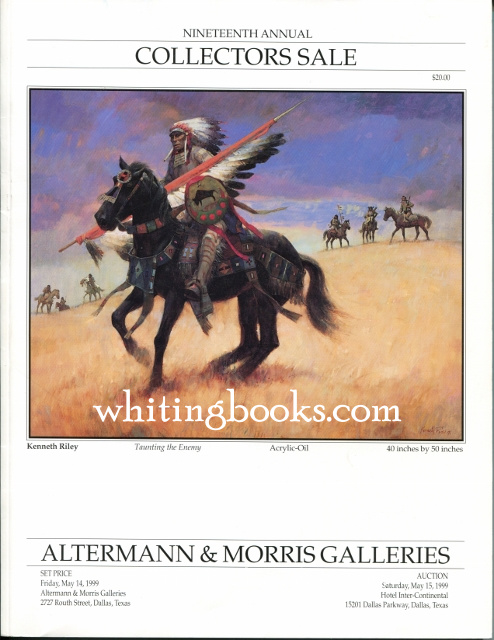 Image for Altermann & Morris Galleries Nineteenth Annual Collectors Sale May 15, 1999, Dallas