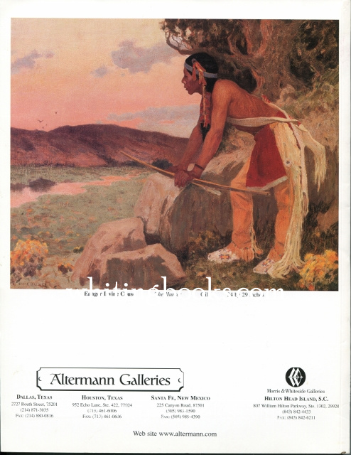 Image for Altermann Galleries (in Association with Morris & Whiteside Galleries) Collectors Sale XX Auction Catalog  June 3, 2000, Dallas