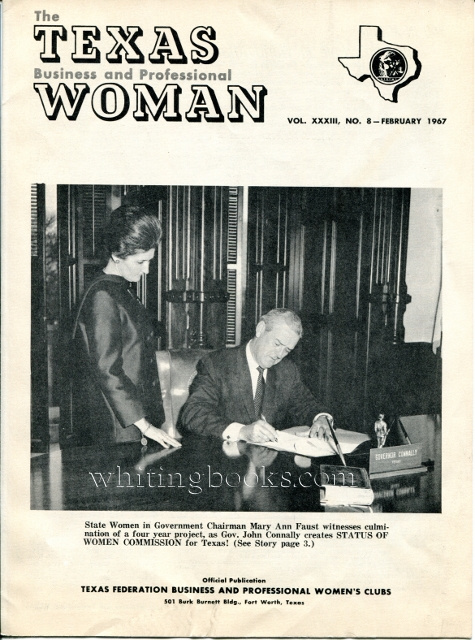 Image for The Texas Business and Professional Woman, Vol. XXXIII, No. 8 - February 1967