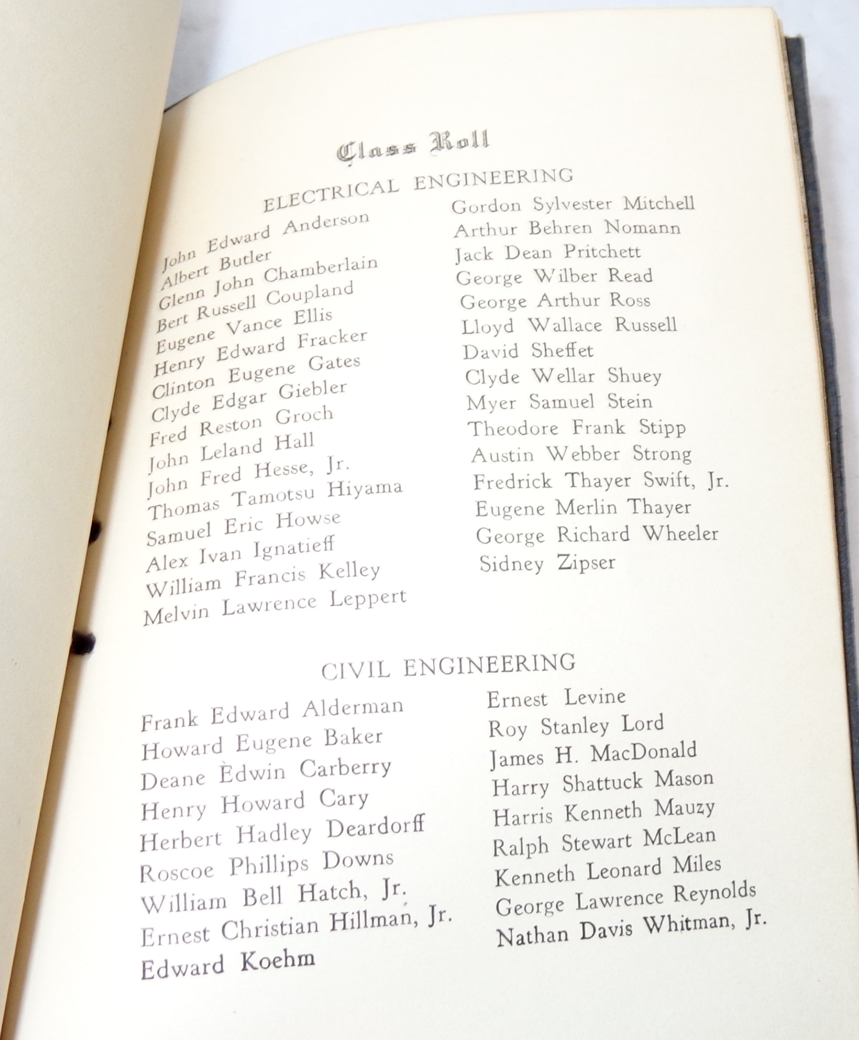 California Institute of Technology (Cal Tech) 1930 Commencement Program