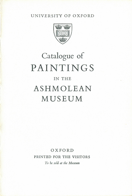 Image for Paintings in the Ashmolean Museum Illustrated Catalogue