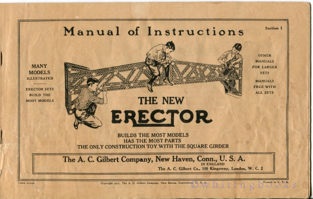 Image for The New Erector Manual of Instructions, Section 1