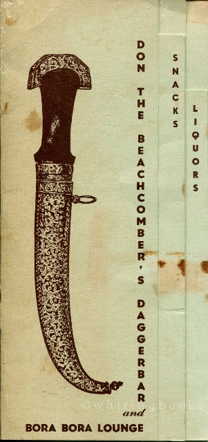 Image for Don the Beachcomber's Dagger Bar and Bora Bora Lounge  Menu Circa 1957