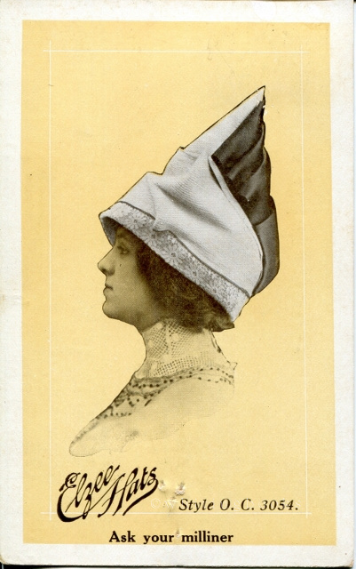 [Ephemera] Elzee Hats Postcard from Schauerhammer & Roensch, Bellville, Texas 1912