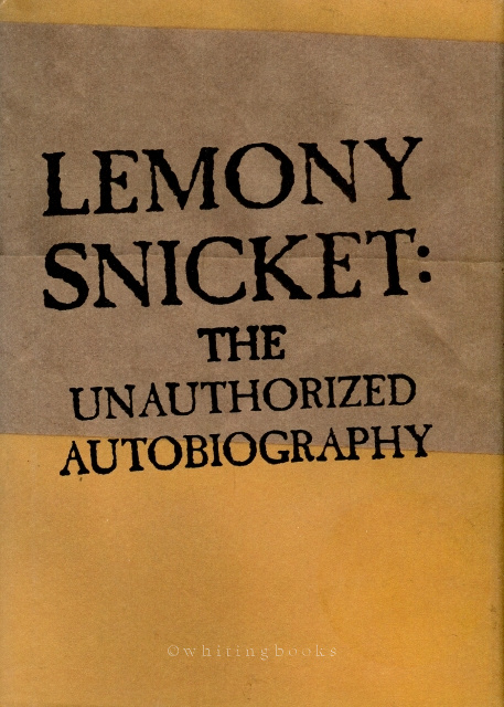 Image for Lemony Snicket: The Unauthorized Autobiography