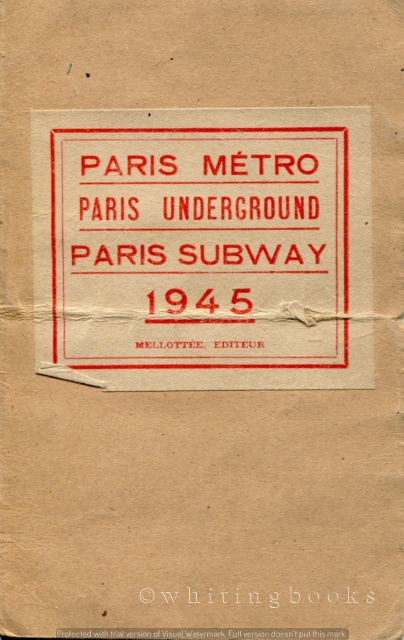 Image for Paris Métro - Paris Underground - Paris Subway 1945 (Route Map)