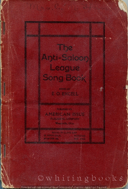 Image for The Anti-Saloon League Song Book