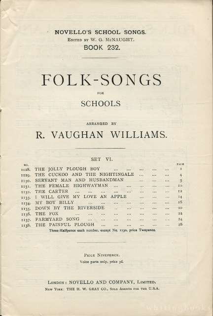Novello's School Songs, Book 232: Folk-Songs for Schools, Set VI