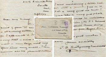 Autograph Signed Letter from Lucy Maud Montgomery (Macdonald), 1939